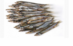 The capelin is dried