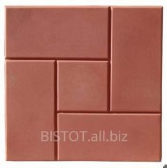 The tile is polimerpeschany