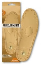 Comfortable insoles from genuine leather