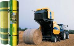 Сетка для обвертывания рулонов сена и соломы,возможен экспорт