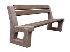 Benches park on a concrete basis