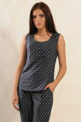 Блуза Ри Мари Васаби БЛ 9.2-37/16 44 темно-синий