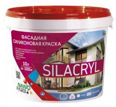 Фасадная силиконовая краска Silacryl Nano farb 10