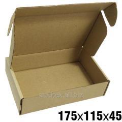 0,23кг 175х115х45 Самосборные картонные коробки 50шт (гофротара) (сск-001)