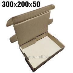 0,75кг 300х200х50 Самосборные картонные коробки 50шт (гофротара) (сск-003)