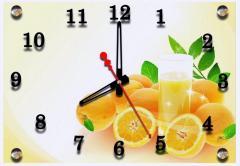 Часы-картина Апельсиновый фреш, часы настенные