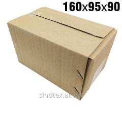 0,34кг 160х95х90 Картонные коробки бурые 50шт (гофроящики) (гтс-001)