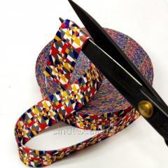 НА МЕТРАЖ Стропа сумочная-ременная мягкая, 3,8см разноцветная (657-Л-0784)
