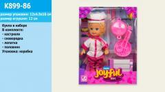 Кукла маленькая K899-86 (72шт|2) повар, ...
