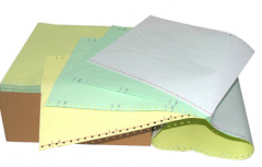 Tape paper for printers punched faltsovanny in