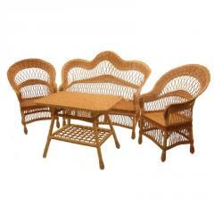 Комплект плетеной мебели из лозы Корал