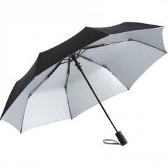 Складной зонт Fare 5529 черный/серебряный