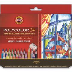 Художественные цветные карандаши POLYCOLOR, 24 цв.