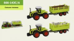 Трактор инерц. 666-143C|A (60шт|2) 2 вида, ...