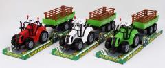 Трактор инерц. FB17-2 (72шт|2) с прицепом, 3...