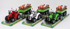 Трактор инерц. FB17-3 (72шт|2) с прицепом, 3...