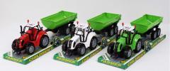 Трактор инерц. FB17-9 (72шт|2) с прицепом, 3...