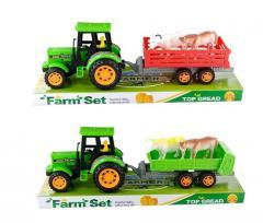Трактор инерц 0502|0505(72шт|2)с прицепом, ...