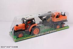 Трактор инерц 666-9C (24шт|2) с прицепом, ...