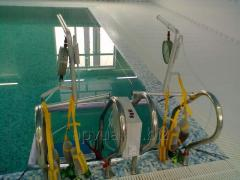 The equipment for the dosed underwater extension of a backbone