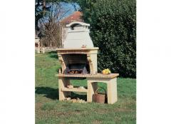 Barbecue from a natural stone limestone, a shell