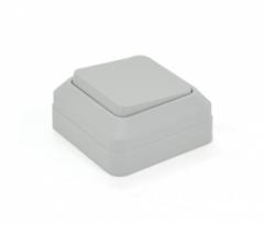 Вимикач ординарний зовнішнього монтажу DSO White, Q10