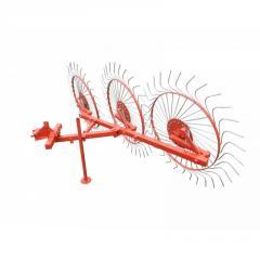 Грабли колесно-пальцевые «Солнышко» на 3 колеса