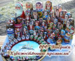 Деревянные сувениры с росписью