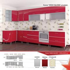 Кухня угловая High glos 1300 на 3600 мм от