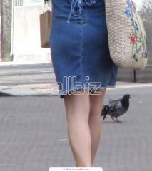 Джинсовые юбки женские