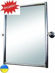 Зеркало поворотное в раме, для ванной комнаты.