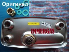 Теплообменник ГВС вторичный Immergas (гайка)