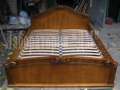 Bed double model Lyudmila from an ash-tree,