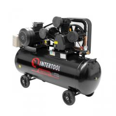 Компрессор 200 л, 7,5 кВт, 380 В, 10 атм, 1050 л/мин. 3 цилиндра INTERTOOL PT-0040