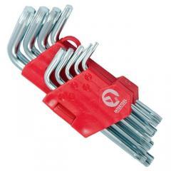 Набор Г-образных ключей TORX 9 шт,  Т10-Т50,...
