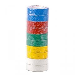 Лента изоляционная 0,15 мм x 17 мм x 10 м цветная INTERTOOL IT-0014