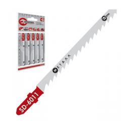 Полотно пильное для лобзика рабочая длина 75 мм, расстояние между зубьями 3 мм для работы c цветным металлом INTERTOOL SD-6011