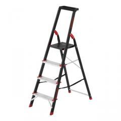 Стремянка 4 ступени, лоток для инвентаря, стальной профиль, высота верхней ступени 850мм, 433х821х1350мм, 150кг INTERTOOL LT-0054