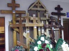 Кресты, гробы, венки похороные
