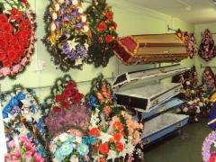 Ритуальная продукция, венки, кресты, гробы