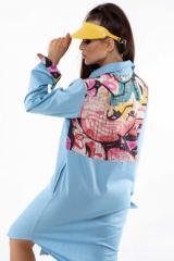 Платье Ри Мари Граффити ПЛ 1020 42 голубой