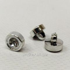 Пуговицы блузочные Ø-10мм цвет: серебро (1-2008-Ю-0033