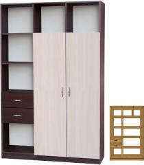 Шкаф офисный тип Q (1000х400) МАКСИ-МЕбель Венге