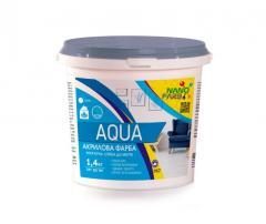 Интерьерная акриловая краска моющая Aqua Nanofarb