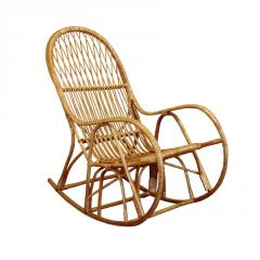 Rocking-chair wattled of a rod, furniture from a