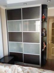 Двери для шкафа-купе комбинированные, стекло сатин