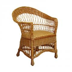 Chair from a rod wattled