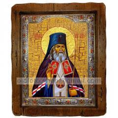 Икона Лука Святитель Крымский ,с посеребренным