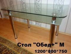 Стол обеденный стеклянный, стол обеденный из