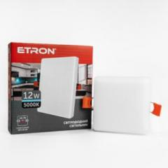Светильник ETRON 1-EDP-655 12W 5000К ІР20 квадрат